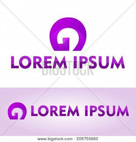 Letter G <Logo Concept, Icon, Font, Purple