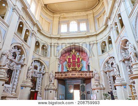 Parrocchia San Matteo Church Of Lecce. Puglia, Italy.