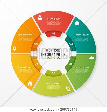 Vector Circle Chart Infographic Template For Presentations, Adve