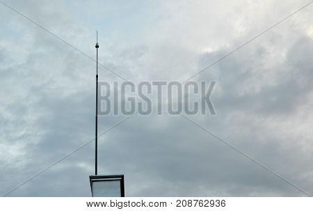Lightning Rod And Sky