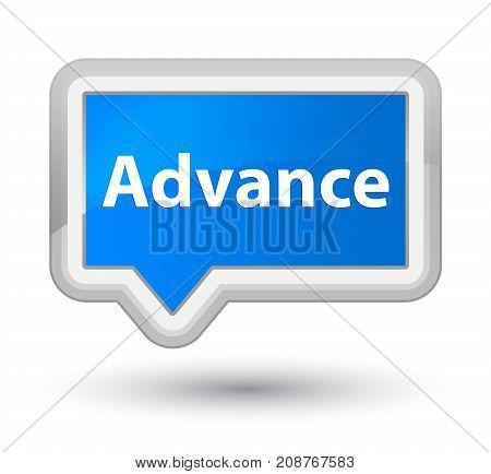 Advance Prime Cyan Blue Banner Button