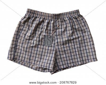 Close up short sleep pants isolated on white background