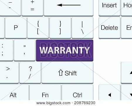Warranty Purple Keyboard Button