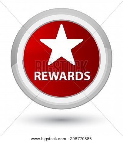 Rewards (star Icon) Prime Red Round Button