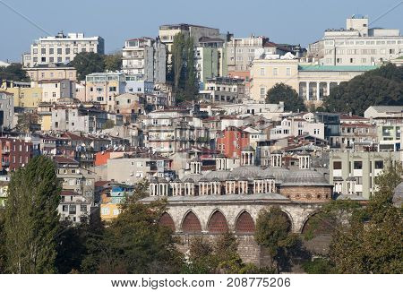 The residential district of Istanbul European side (Turkey).