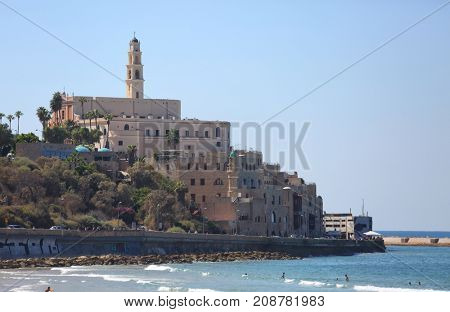 View of Jaffa from the embankment of Tel Aviv