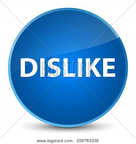 Dislike Elegant Blue Round Button