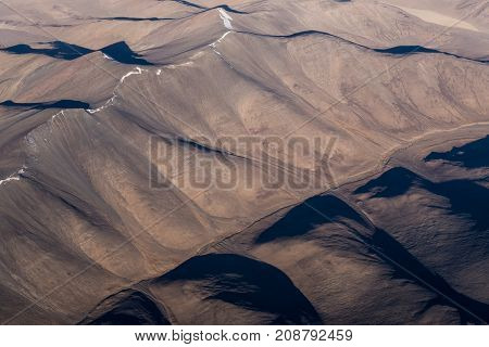 Top view image of the Himalaya mountain in India