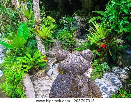 Bali, Indonesia - April 13, 2012: View Of Spa Pool At Tjampuhan Hotel