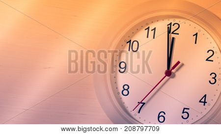 Clock Ticking Showing Twelve Hours