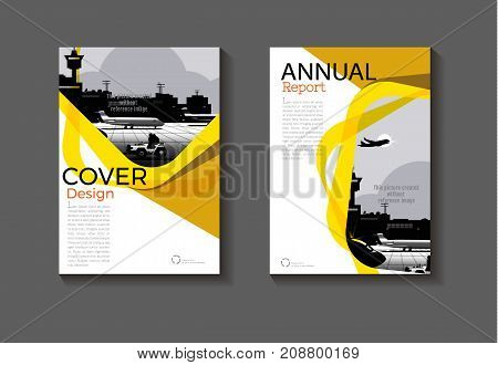 yellow modern Circle Yellow cover design modern book cover abstract Brochure cover templateannual report magazine and flyer layout Vector a4