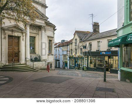 NORWICH, NORFOLK, 4TH OCTOBER 2017 - Bedford Street in Norwich Lanes Norfolk UK