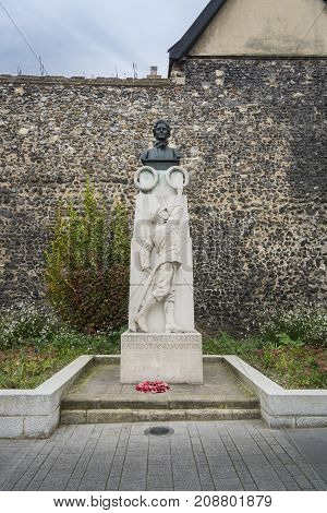 NORWICH, NORFOLK, 4TH OCTOBER 2017 - Edith Cavell Memorial in Norwich Norfolk UK