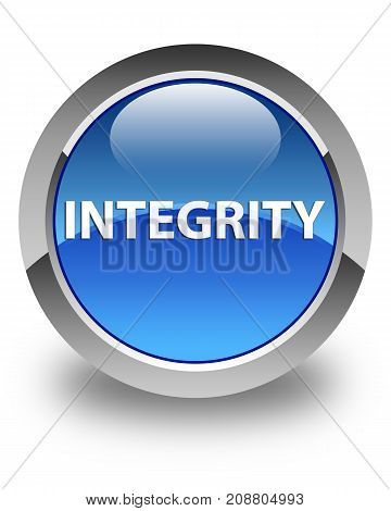 Integrity Glossy Blue Round Button