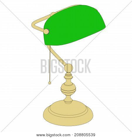 Lamp With Black Colored Outline
