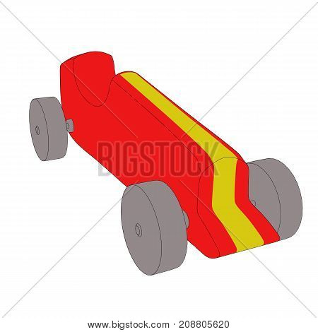 Toy Car With Black Outlines