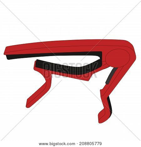 Guitar Capo With Black Outlines