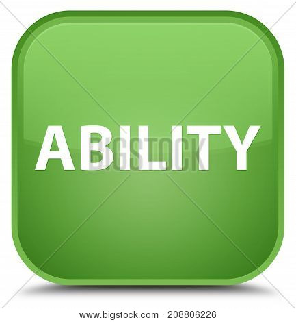 Ability Special Soft Green Square Button