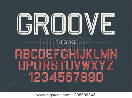 Groove vector decorative bold font design alphabet typeface typography