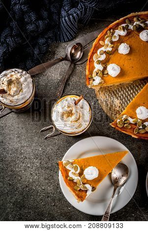Pumpkin Pie, Tartlets And Latte