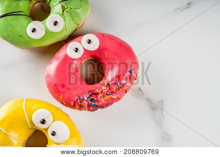Monsters Donuts For Halloween