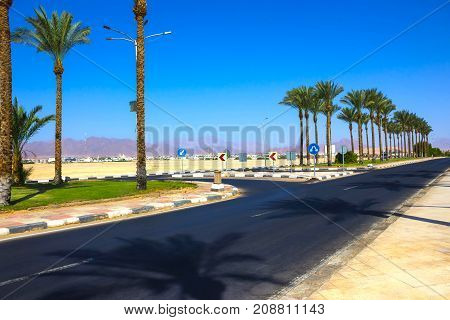 One Of The Street At Sharm