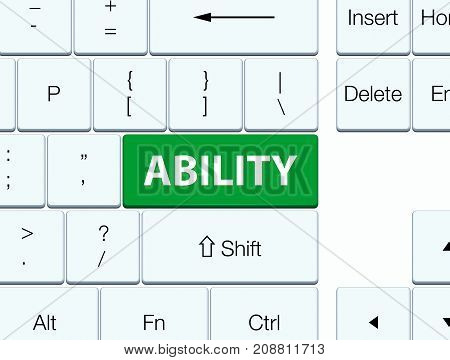 Ability Green Keyboard Button