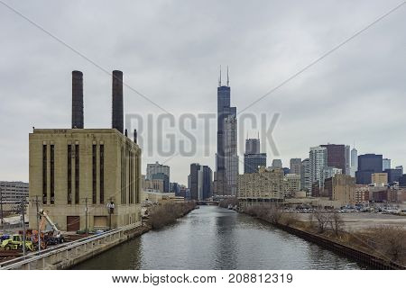 Union Power Station And Willis Tower