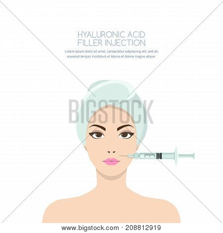 Cosmetology And Beauty Concept. Beautiful Woman Having Rejuvenating Injection Against The Wrinkles.