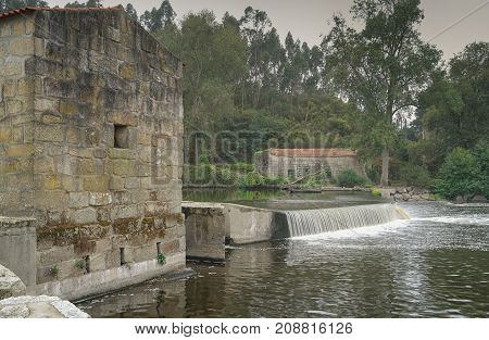 Old watermill close to Ponte do Ave, sights along the Camino de Santiago trail, Portugal