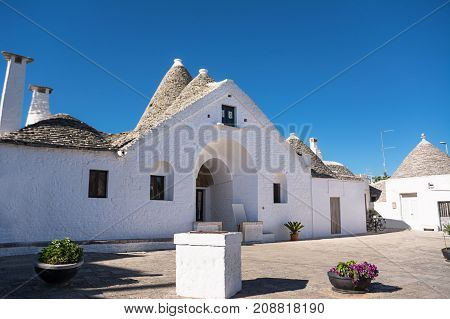 The Trullo Sovereign of Alberobello (Italy) with nobody