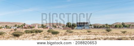 KAROS SOUTH AFRICA - JUNE 11 2017: A panoramic view of Karos a village on the N10 road between Groblershoop and Upington in the Northern Cape Province