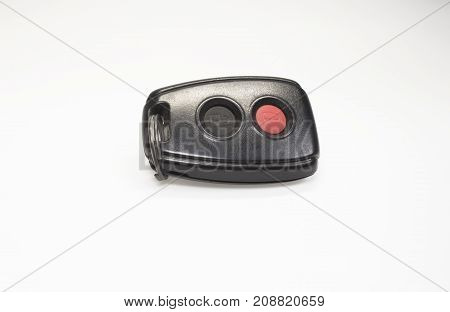 vehicle safety alarm lock isolated in white