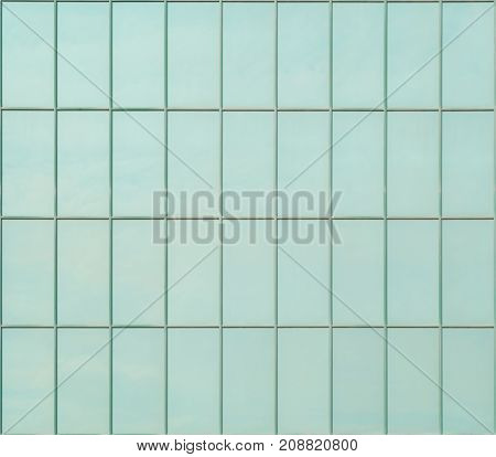 Turquoise tiles for exterior wall lining as background or texture