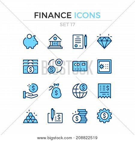 Finance icons. Vector line icons set. Premium quality. Simple thin line design. Modern outline symbols, pictograms