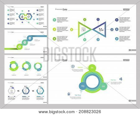 Financial report set can be used for workflow layout, web design, annual report. Economics concept with comparison, options and step chart, doughnut and percentage diagrams