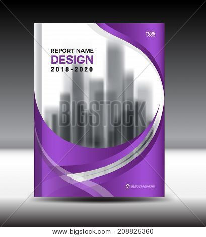 Annual report brochure flyer template, purple red cover design, business advertisement, magazine ads, catalog vector layout in A4 size
