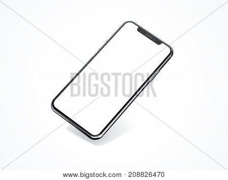 Modern smartphone isolated on white background. 3d rendering