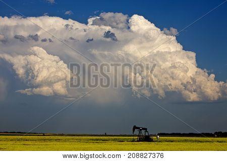 Storm Clouds Canada Oil Jack