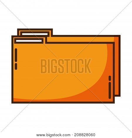 color folder file to save documents information to archive vector illustration