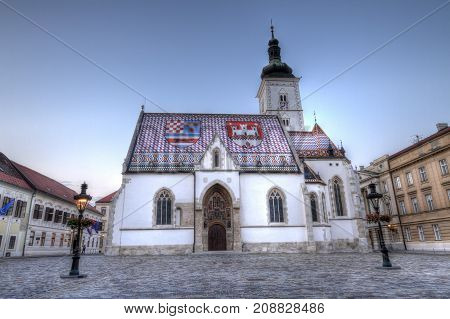 Church of St. Mark in St. Mark's square in Zagreb called Gornij Grad, Croatia