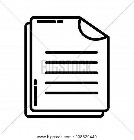 line business document business data archive vector illustration