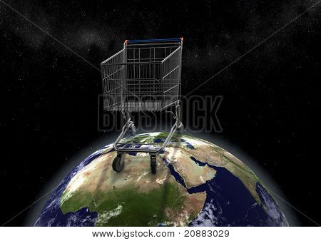 Huge Shopping Cart On Earth