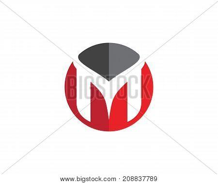 M Letter Logo Template vector illustration design