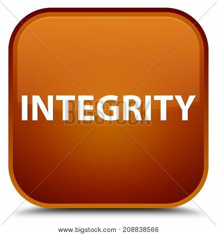Integrity Special Brown Square Button