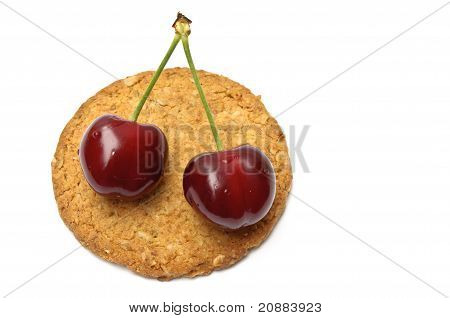 Cherries Over A Cookie