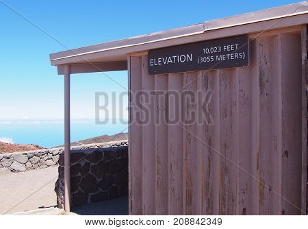 Haleakala lookout located at Haleakala mountain peak, Maui, Hawaii.