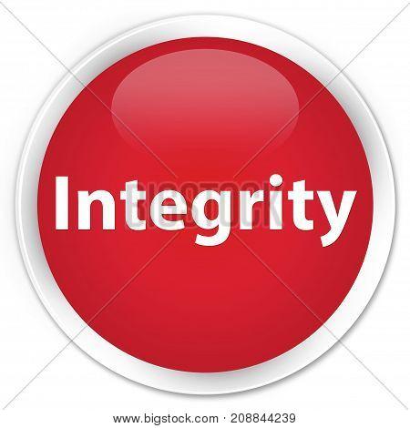 Integrity Premium Red Round Button