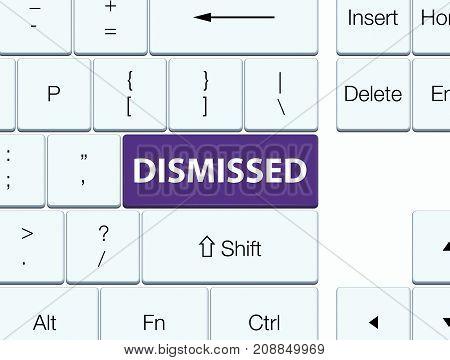 Dismissed Purple Keyboard Button