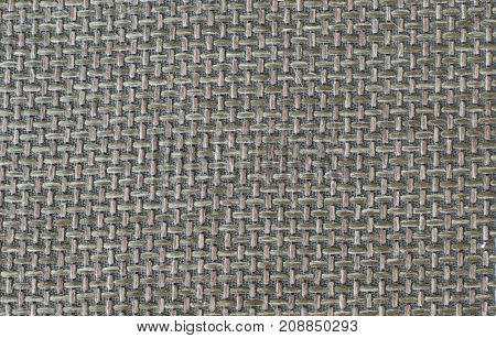 Olive green background of woven fabric. backgrounds and textures. copy space background Chair cover fabric